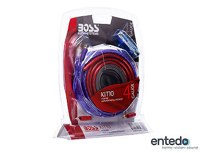 BOSS AUDIO KIT-10 Installations-Set Verstärker Lautsprecher Endstufe Auto