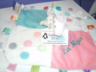 Pretty Pony Taggie Animal Blanket Personalized Security Blanket Baby Blankie