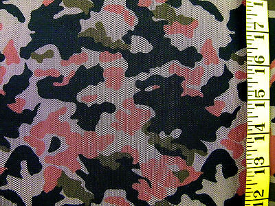 CAMO COUTURE TULLE CORAL 100% POLYESTER MESH FABRIC BY THE 1/2 - Coral Tulle