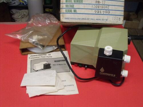 MEC-O-MATIC Chemical Feed Pump 8800190 Model PM-77 120 Volt