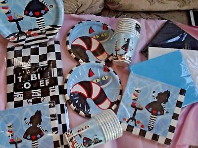 Alice In Wonderland Tableware; Mad Hatter Tableware; birthday or Shower parties (Mad Hatter Baby Shower)