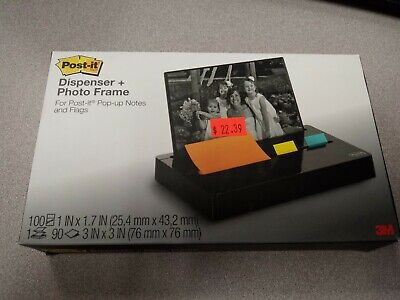 Post-it Pop-up Noteflag Dispenser Plus Photo Frame With 3 X 3 Pad 50 1 Flags