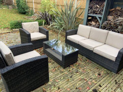 Garden Furniture - Maze Rattan garden furniture - 3 Seat Sofa Set - Brown