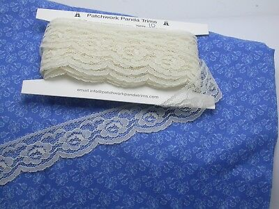 """Closeout Bolt Lace 1 1/4""""  (31.75mm) Ivory 10 Yards"""