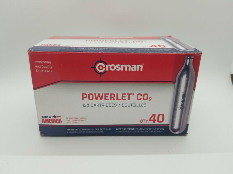 Crosman POWERLET 12 Gram CO2 40 Cartridges Genuine New