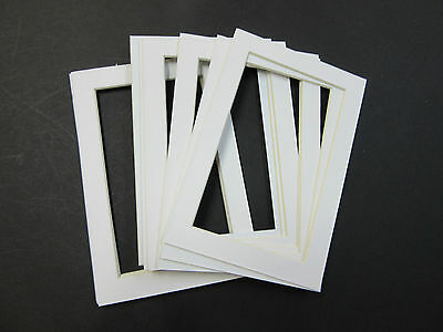 Picture Frame Mat 4x6 for 3.5x5 photo set of 10 mats white color
