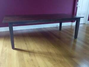 Large solid timber dining table - 10 seater