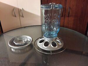 Perky Pet Glass Mason Jar Feeder/Waterer for Wild Birds