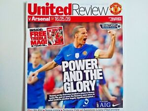 Manchester United v Arsenal 16/5/2009 Plus FREE Treble mag 10 years on RARE