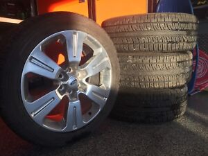 """4 Pirelli tires with 2017 Factory Ford Limited 22"""" Rims"""