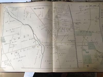 Perkasie PA c1894 map 36x24