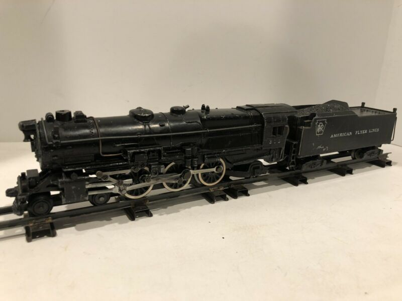 VINTAGE AMERICAN FLYER 313 PRR 4-6-2 STEAM LOCOMOTIVE TRAIN As Is