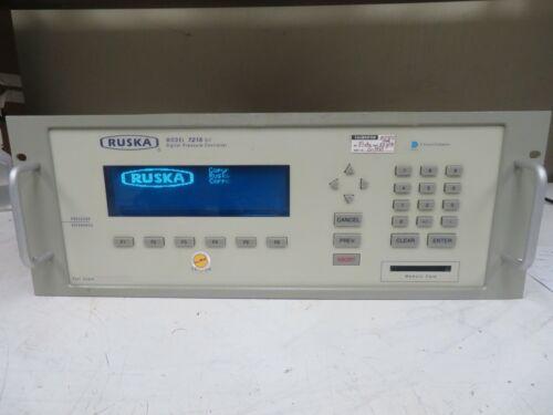 Ruska Model 7215xi Digital Pressure Indicator 2500 PSI - Parts/Repair - OQ35