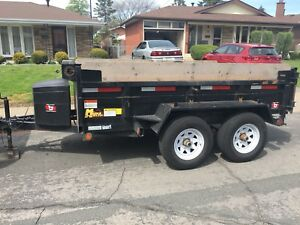 2017 5 ton dump trailer  box size 6x10