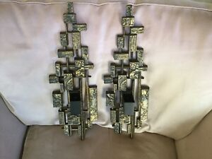 Pair of Mid Century Modern Dart Industries Wall Candle Sconces