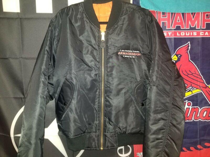 1998 Armagetton Cast And Crew Jacket Rare Pilots Jacket Large