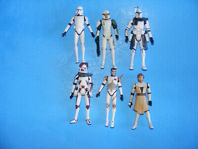Star Wars Clone Wars Lot#1 Rex Obi-Wan