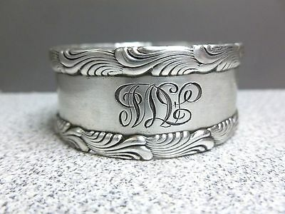 Wave Edge Sterling Napkin Ring by Tiffany  AW Monogram