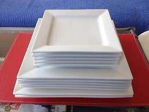 12 PIECE Porcelain SQUARE Dinner Plate Set McMahons Point North Sydney Area Preview