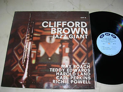 CLIFFORD BROWN Jazz Giant (Max Roach,Carl Perkins a.o.) US GNP 18 ORIGINAL LP