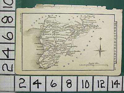 c1833 GEORGIAN MAP ~ HARLECH DOLGELLY BALA CORWEN