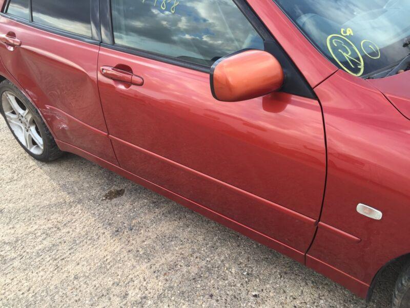 99-05 LEXUS IS200 IS300 COMPLETE DOOR DRIVER FRONT Aztec Fire RED 3N3 #0109