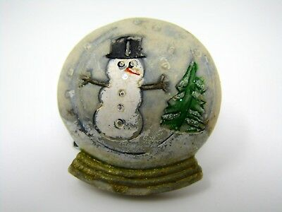 Collectible Pin: Snowman Snowglobe Snow Globe Design Christmas Winter Theme - Winter Ball Themes
