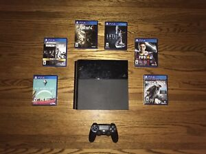 PS4 Console With Controller and Games