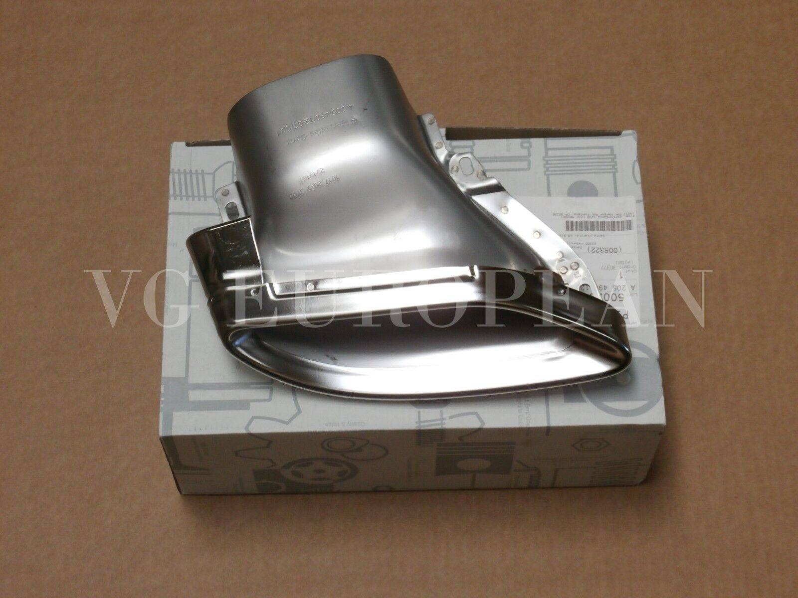 Mercedes Benz Genuine W205 C-Class Rear Right Exhaust Tip Chrome NEW