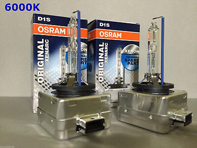 2PCS NEW OEM OSRAM XENARC D1S 66144 66140 6000K HID XENON LIGHT BULBS SET