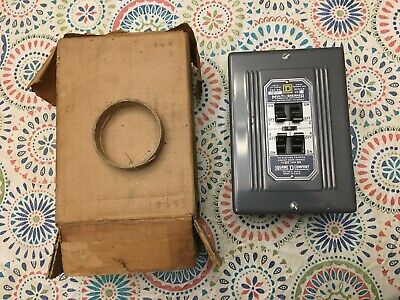 Square D Multi Breaker Box No. 181111-s Solid Mains 50 Amp Max In Box Usa
