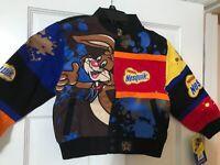 Nesquik Quik Bunny Rare Hoodie Zip Sweatshirt Jacket Kids Size XL Chocolate Milk