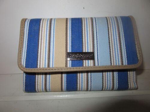 Longaberger Wallet Cabana Stripe W coin pocket