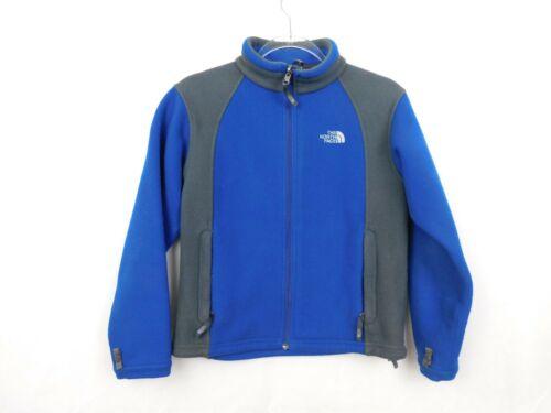 North Face Fleece Jacket Medium Boys Blue Long Sleeve Full Zip Coat