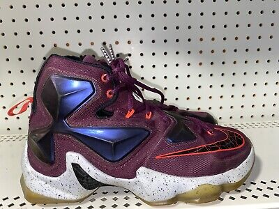 Nike LeBron 13 Written In The Stars Mens Basketball Shoes Size 8 Mulberry Purple