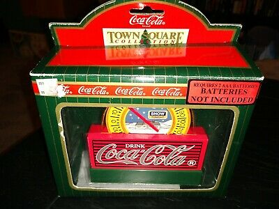 VINTAGE 1996 Light Up COCA COLA TOWN SQUARE THERMOMETER RETIRED ADVERTISING COKE