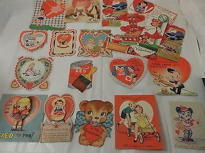 Lot of 20 vintage 1930's-50's Valentine cards