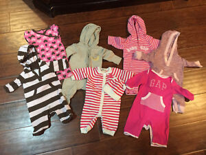 0-3 month girl rompers
