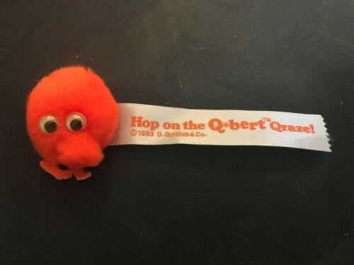 Q*bert Qbert Q Bert Promotional Giveway Sticker Fuzzy Hopper Desk Toy