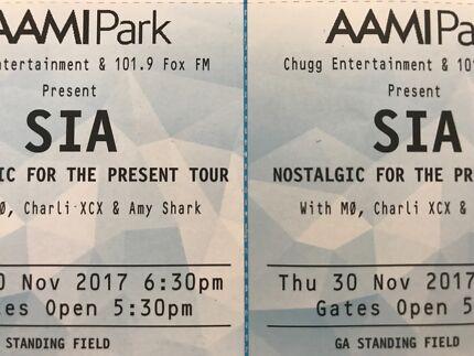•x2 HARD COPY •SIA Melb •FRONT GA Tickets