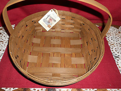 Longaberger  2016 ROUND PIE BASKET ~ VINTAGE!    NEW!     BUY IT NOW!   SALE!