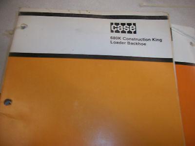 Case 680k Ck Construction King Loader Backhoe Parts Manual Catalog