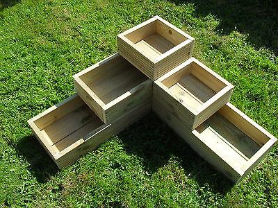 3 Tier Wooden Garden Trough Planter Veg Bed Flower Plant Pots In Decking Boards
