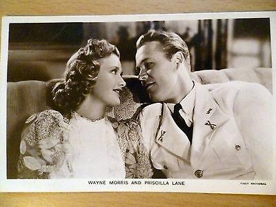 Vintage 1930s Picturegoer POSTCARD Wayne Morris and Priscilla Lane