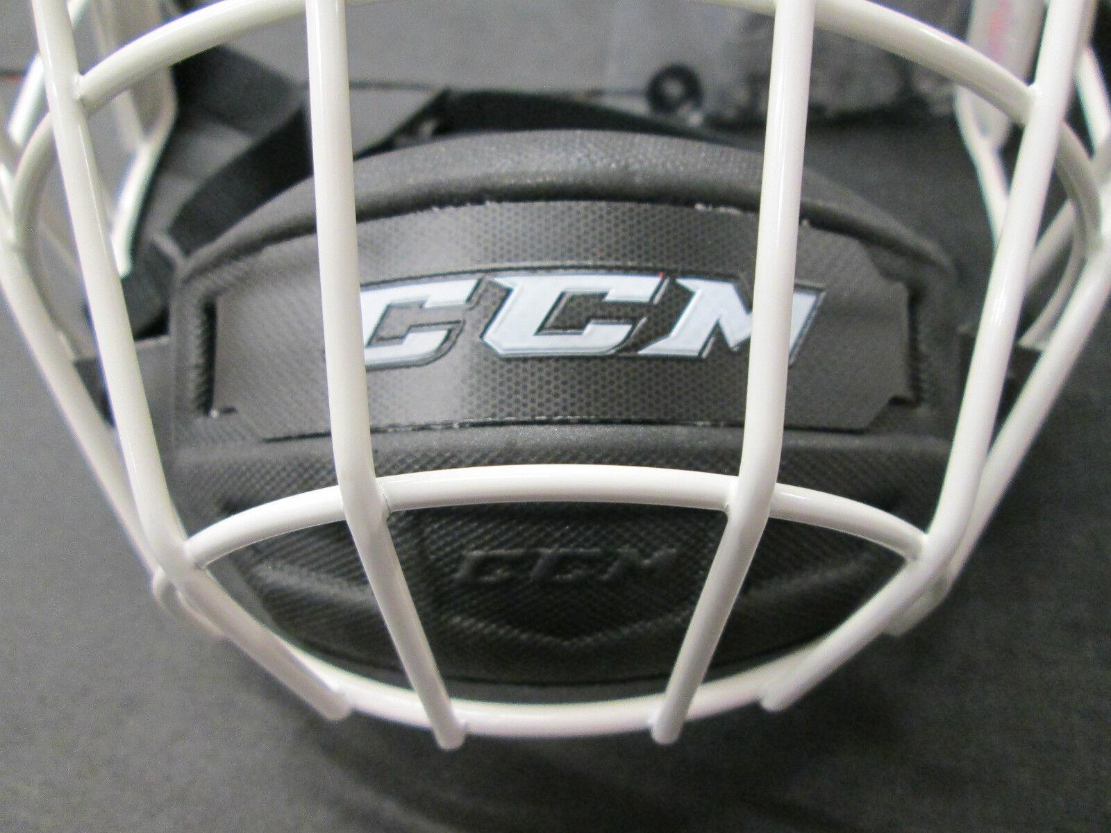 White Helmet White Cage Ccm White Cage Hockey Helmet
