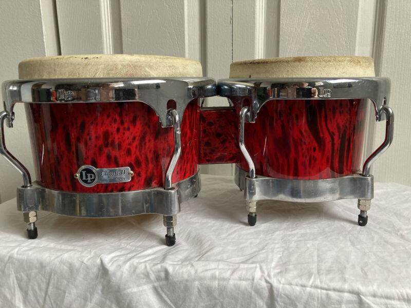 LP Classic II Bongos Red Lava