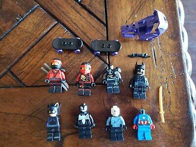 LEGO Large Lot of 6 Ninjago Super Hero Minifigures Marvel DC Comics Batman RARE