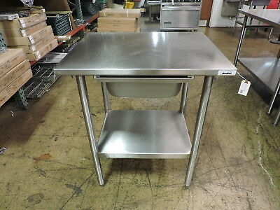 Commercial Stainless Steel Work Table With Drawer And Undershelf - 30 X 24