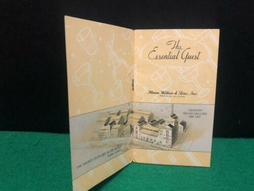1934 Hiram Walker Distillery Peoria IL Advertising Booklet Stars Whiskey Recipe
