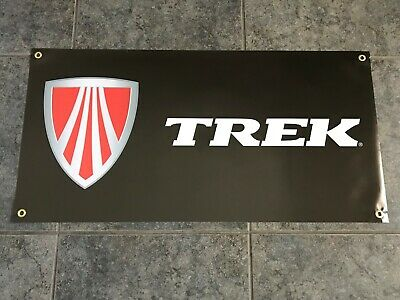 Trek bicycles banner sign shop garage mountain bike cycling MTB trail downhill